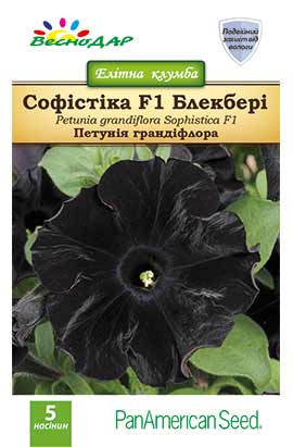 Фото-семена Петуния грандифлора Софистика F1(Sophistica F1)  Blackberry