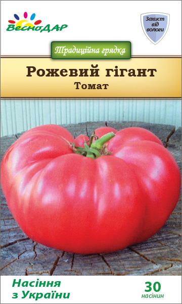 Фото-семена Томаты Розовый гигант