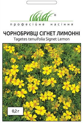 Фото-семена Бархатцы Сигнет, лимонные