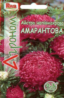 Фото-семена Астра полумахровая Амарантова
