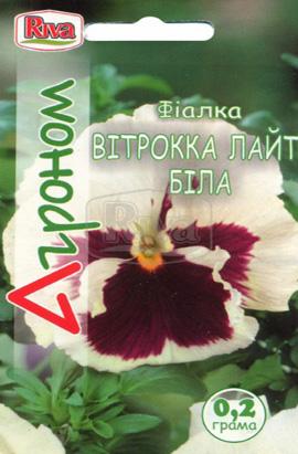 Фото-семена Виола витрокка Лайт белая