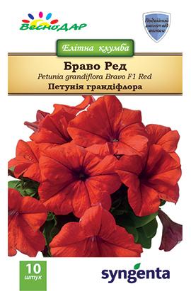 Фото-семена Петуния грандифлора Bravo®F1 Red (драже)