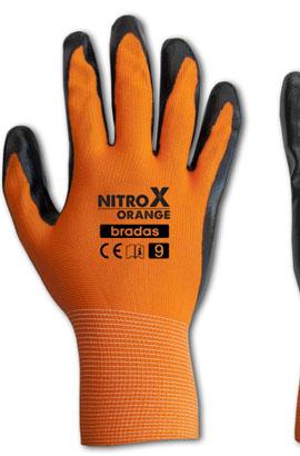 Фото-  Перчатки защитные NITROX ORANGE нитрил, размер 9