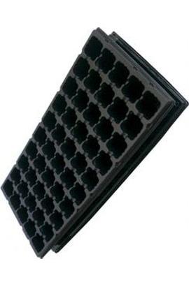 Фото-  Кассета пластиковая с поддоном на 50 ячеек