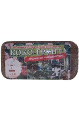 Фото-  Кокосовый субстрат блок,100х20х2,5 мм