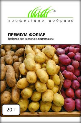 Фото-удобрения  Премиум-фолиар, для картофеля с ПРИЛИПАТЕЛЕМ