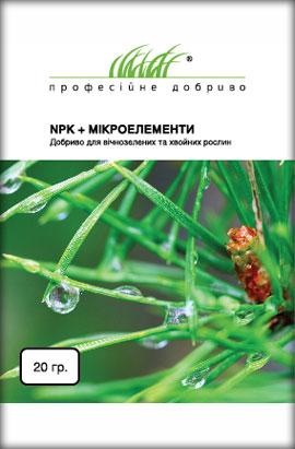 Фото-удобрения  NPK+Микроелементы, для вечнозеленых и хвойных растений