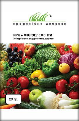 Фото-удобрения  NPK+Микроелементы, универсальное