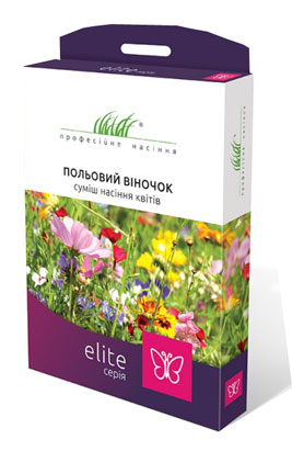 Фото-Цветочная смесь  Полевой веночек Elite (на 50 м²)